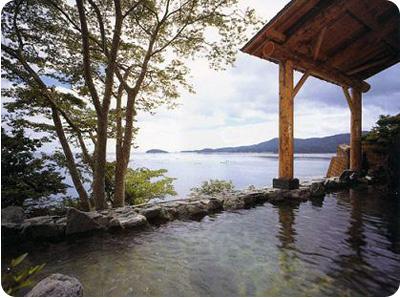 onsen rotenburo exétrieur paradis